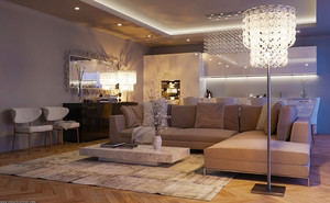 现代简约风格时尚客厅装修效果图赏析