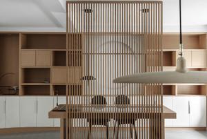 中式风格素雅精美书房隔断装修效果图