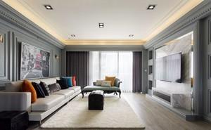 现代风格简约时尚客厅电视背景墙装修效果图
