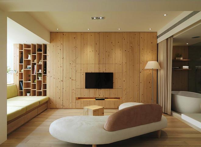58平米现代简约风格精致单身公寓装修效果图