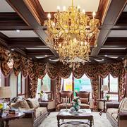 古典欧式风格别墅客厅设计装修效果图