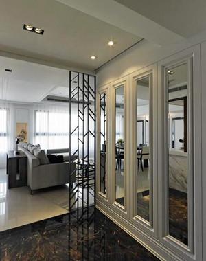 简欧风格精致三室两厅室内装修效果图案例