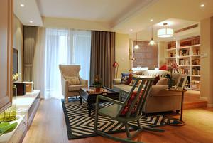 美式风格精致三室两厅室内设计装修效果图