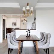 美式风格大户型精美浅色餐厅设计装修效果图