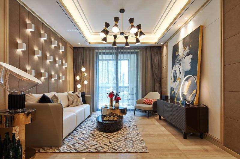 新古典主义风格大户型精美客厅装修效果图