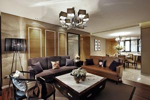 新中式风格精美古典风两室两厅装修效果图