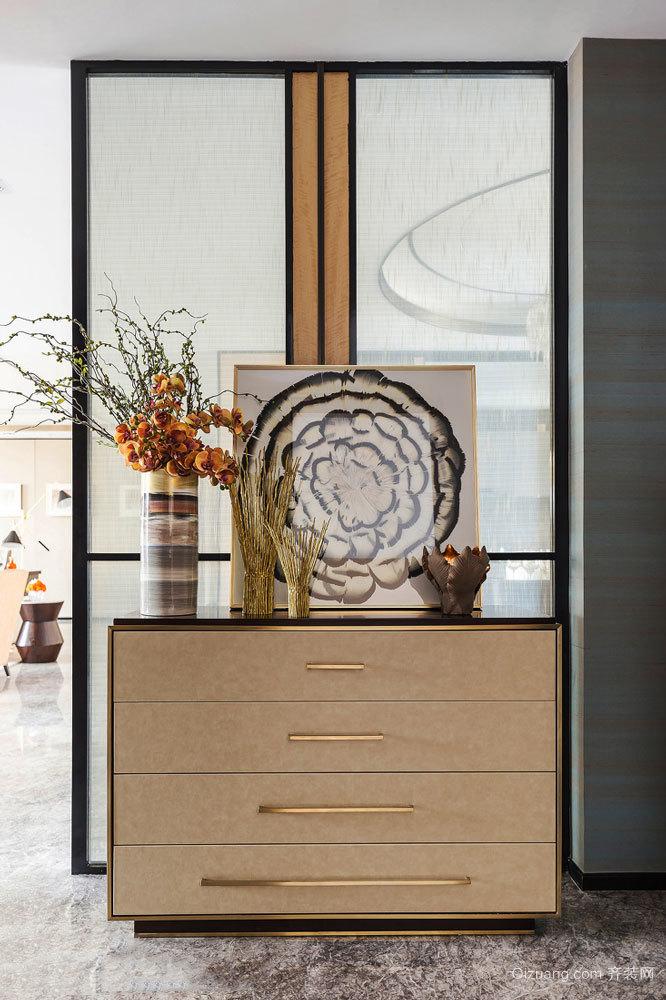新中式风格精美玄关柜设计装修效果图