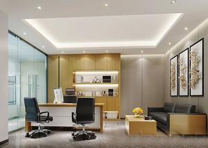 现代简约风格精致老总办公室装修效果图