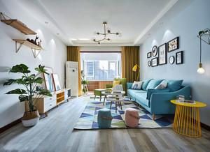 北欧风格时尚清新客厅设计装修效果图