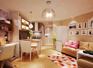 44平米现代简约风格单身公寓装修效果图