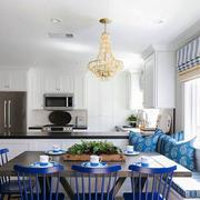 地中海风格精美蓝色餐厅装修效果图赏析