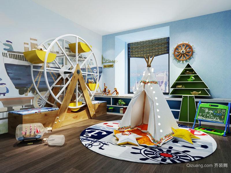 现代简约风格时尚创意儿童房装修效果图