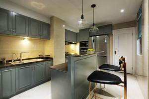 欧式风格精美大户型精美厨房吧台装修效果图