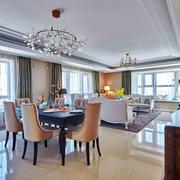 新古典主义风格奢华精美餐厅设计装修效果图