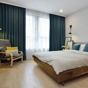 宜家风格温馨浅色卧室装修效果图