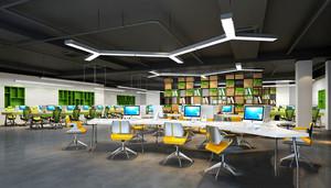 80平米现代风格小型办公室装修效果图