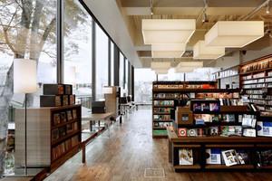 复古风格精致书店设计装修效果图