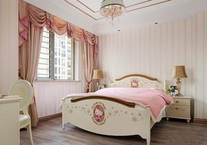 简欧风格甜美粉色儿童房设计装修效果图