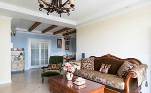 美式风格精致复古时尚客厅沙发装修效果图