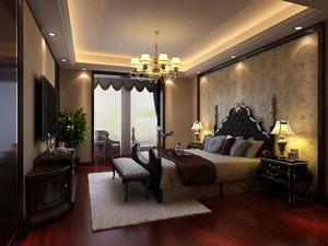 美式风格复古精美别墅卧室装修效果图赏析