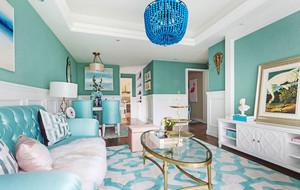 欧式风格清新时尚客厅设计装修效果图