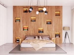 现代简约风格卧室书架设计装修效果图