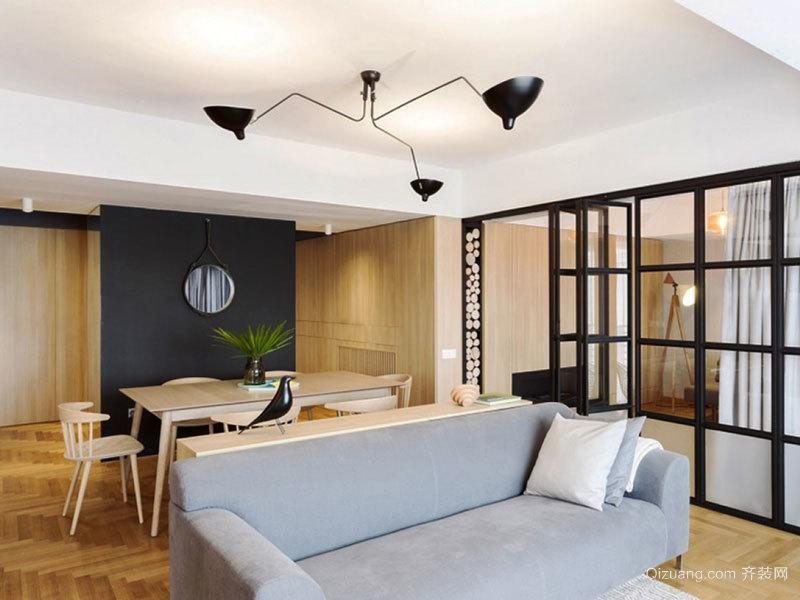 现代风格创意客厅隔断设计装修效果图