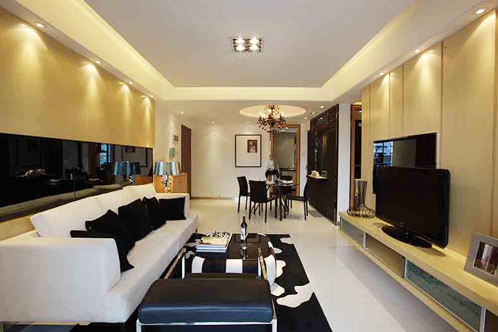 124平米现代时尚三室两厅室内装修效果图鉴赏