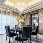 新中式风格素雅精美餐厅设计装修效果图