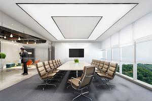 现代简约风格会议室设计装修效果图