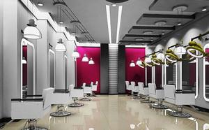 现代简约风格美发店设计装修效果图