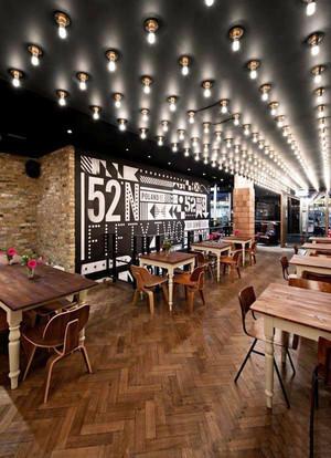 美式风格创意精美酒吧设计装修效果图