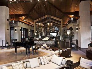 美式风格精致酒店餐厅设计装修效果图