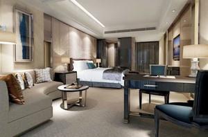现代风格精致五星级酒店客房装修效果图
