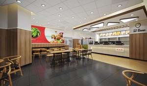 55平米简约风格快餐店设计装修效果图