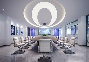 现代风格精致会议室吊顶装修效果图