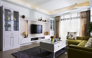 80平米清新风格舒适室内装修效果图案例