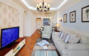 田园风格清柔美客厅设计装修效果图赏析