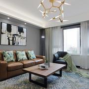 现代风格时尚简单客厅设计装修效果图
