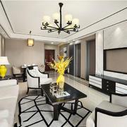 新中式风格大户型奢华精美客厅装修效果图
