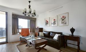 中西混搭风格精美两室两厅室内设计装修效果图