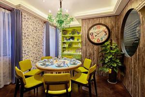 混搭风格精美餐厅包厢设计装修效果图
