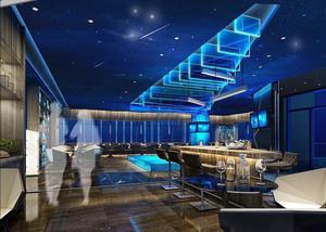 现代简约风格时尚音乐酒吧装修效果图