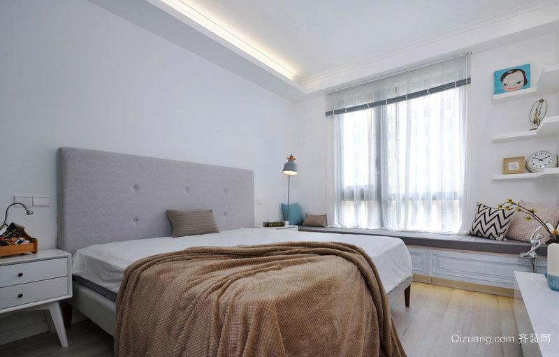 北欧风格精美卧室飘窗设计装修效果图赏析