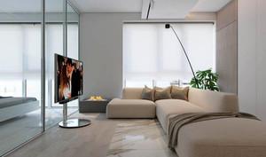 56平米简约风格时尚单身公寓装修效果图鉴赏