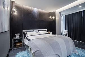 后现代风格精美冷色调卧室装修效果图