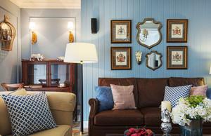 美式风格复古精美客厅照片墙装修效果图