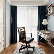 美式风格精致书房设计装修效果图