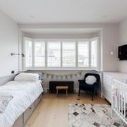 欧式风格精美白色婴儿房设计装修效果图