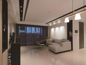78平米现代风格咖啡色一居室装修效果图